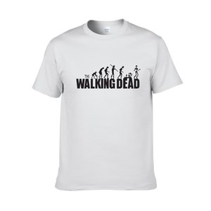 Uomini speciali 100% cotone The Walking Dead Logo Tee Shirts Uomo O-Collo Grigio T-shirt manica corta Big Size XS-XXL Tee Shirts