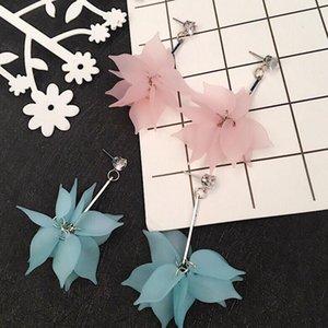Nuovi orecchini sexy del fiore della resina dei fiori lunghi della nappa del ciondolo della nappa di fascino degli orecchini di fascino dei gioielli delle donne della fabbrica 30 Pair / lot