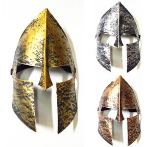 Spartan Warrior Helmet Mask Maschera di Halloween Horror Cavaliere Hero Masquerade Maschere a pieno faccia per Halloween Decorazione Festa di Natale WX9-928
