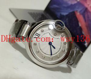 Envío gratis de lujo de alta calidad de acero inoxidable pulsera de diamantes reloj de cuarzo de las mujeres WE902031 señoras de moda muñeca pulsera