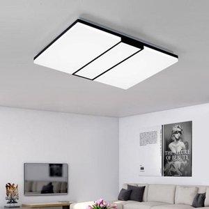 Moderno rettangolo quadrato sottile LED Lampadario a soffitto creativo cubo per soggiorno studio camera da letto Eye Protection Lamp Fixture-L46