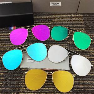 2018 Горячие светоотражающие солнцезащитные очки Мужская одежда Женская Марка дизайнер 2018 металлические солнцезащитные очки Мода солнцезащитные очки 10 шт.