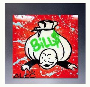 """Alec Monopoly """"Presse mit hohen Qualität Handbemalte HD-Druck Abstrakte Graffiti-Pop-Kunst-Ölgemälde-Wand-Kunst-Ausgangsdekor auf Segeltuch G217"""