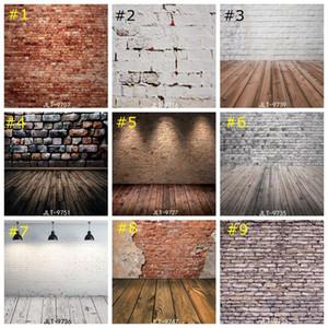 Mur de briques Vinyle photo fond Enfants Photo Studio Retro Photographie Backdrops plancher de bois décor de papier peint 85 * 125cm