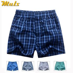 Боксеры короткие мужчины дышащее нижнее белье высокого качества плед мужские под брюки хлопок мужские боди Европейский русский размер 3XL B01