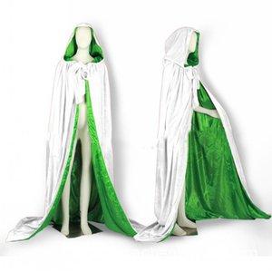 Blanc De Mariage Vestes Wraps Chaud Velours Sans Capuche Capes Halloween Costumes pour Femmes Hommes Cosplay Nuptiale Chaud Cape S-6XL