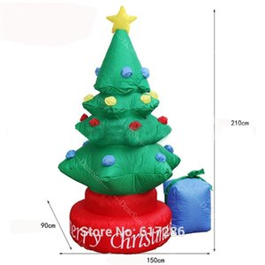 Inflatable Christmas Tree 80 inch Inflatable Santa Claus in reindeer coach outer decoration for Party&Mall&Hotel