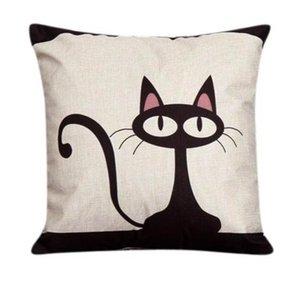 Pillow Case Lovely Cat Patten Pillowcase Waist Home Textile Pillow Cover 17DEC12