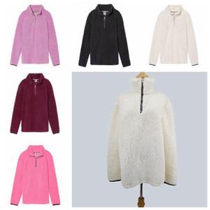 Sherpa Fleece Zipper Hoodie Half Zipper Pullover Streetwear Cool Hiphop Urban Clothing Winter Warm Tops 50pcs LJJO4442