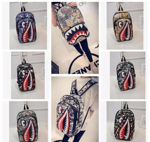 Graffiti Anime Shark Printing Backpack For Teenage Boy Girl Donna Uomo Scuola Borse Fresco Laptop Bag Zaino da viaggio KKA4305