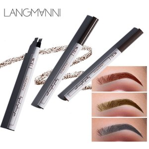 2018 Music Flower Liquid Eyebrow Pen Eyebrow pencil powder 3 colores Eyebrow Enhancer Alta calidad Marca Maquillaje Impermeable DHL