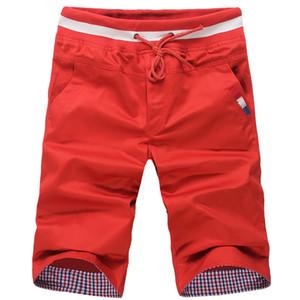 MISNIKI 2018 hombre casuales pantalones cortos de playa de algodón cómodo hombre cortos de verano moda boardshorts impresos S-XXL CYG359