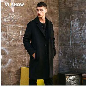 VIISHOW 2018 Novo Inverno Homens Casaco De Trincheira De Lã Dos Homens Longo Trincheira Slim Fit Casaco de Alta Qualidade Dos Homens Casacos Moda Trench Outerwear