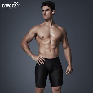 Copozz New Men Traje de baño Impermeable Pata cuadrada Traje de baño elástico Surf Playa Troncos de baño Breve breve (puede elegir largo)