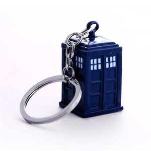 Doctor Who Key Chain TARDIS Брелоки для подарков Chaveiro брелока автомобиля Ювелирного фильма Key Holder Souvenir