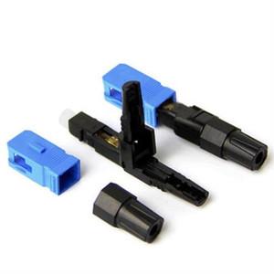 50PCS FTTH SC UPC Single-Mode Fiber Optic SC UPC Quick Connector FTTH Fiber Optic Fast Connector SC Connector