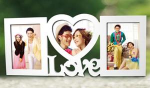 حلوة الحب صور شكل قلب الإطار مع اثنين من صورة معلقة للهدايا الحبيب وزخارف الزفاف