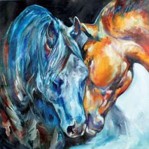 عالية الجودة HD باليد الفن طباعة حديث تجريدي فن زيت صورة زيتية الحيوان الحصان على قماش الرئيسية ديكور الحائط متعدد حجم A11