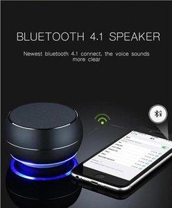새로운 R9 LED가 빛을 가진 소형 금속 Bluetooth 스피커 다기능 휠 Subwoofer 휴대용 무선 스피커 지원 TF 카드 마이크