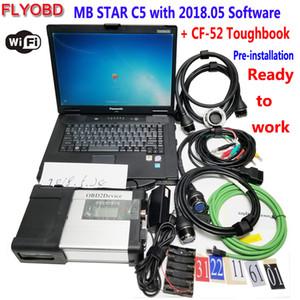 2018 Nuevo MB Star C5 SD Connect 5 Herramienta de diagnóstico Xentry con software 05/2018 HDD en PC de diagnóstico CF52 militar Totalmente para usar