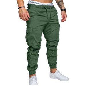 HaiFux Marca Hombre Pantalones Hip Hop Harem Joggers Pants 2018 Hombre Pantalones Mens Joggers Sólido Multi-pocket Pants Sweatpants M-3XL