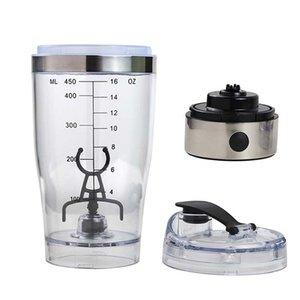 Proteína eléctrica Shaker Blender Botella de agua Movimiento automático Vortex Tornado 450ml BPA Copa mezcladora desmontable gratis 352 R2