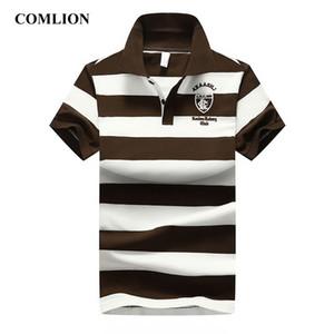COMLION Nouvelle Chemise Hommes Coton Rayé D'été Chemises À Manches Courtes Chemises Mens Casual Business Haute Qualité Vêtements
