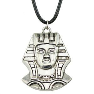 WYSIWYG 5 Stücke Leder Kette Halsketten Anhänger Choker Kragen Männliche Halskette Mode Ägypten Königin Kleopatra 37x26mm N6-B10355