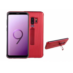 100pcs Luxury Hybrid Armor PC with TPU Back Cover Case for Samsung Galaxy S9 Plus Phone Cases with Kickstand Holder