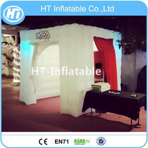 Ücretsiz Kargo Yeni Tasarım Şişme LED Aydınlatma Photo Booth, Düğün Parti Için Şişme Fotoğraf Standında Çadır
