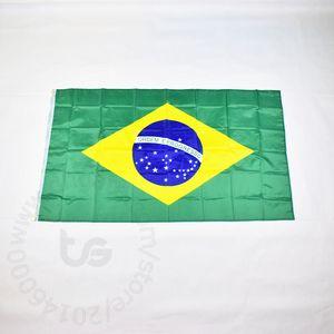 Brasil / Brazilian bandeira nacional gratuito 3x5 transporte FT / 90 * 150 centímetros Hanging Bandeira nacional Decoração bandeira da bandeira