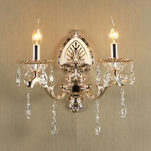Lampada da parete europea soggiorno lampada da parete in cristallo lampada da parete TV sfondo