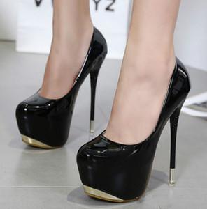 ماركة امرأة مثير مضخات المتطرفة عالية الكعب 16 سنتيمتر مصمم أحذية الزفاف حزب منصة خنجر الإناث الحب الأحذية