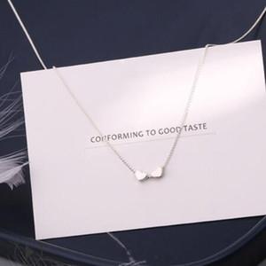 Schmuck S925sterling silberne Halskette für Frauen Versand kleinen silberne Herz-Anhänger Halskette einfache heiße Art und Weise frei
