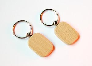 NEW atacado 50pcs em branco retângulo arredondado chaveiro de madeira Promoção Carving Key ID Engrave presente 1.6 '' Livre de envio