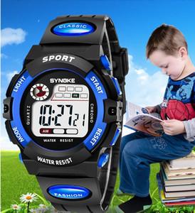 Mode SYNOKE enfants garçons filles sport led numérique montre électronique multifonction Lumineux cadeau parti étudiant montres ST001