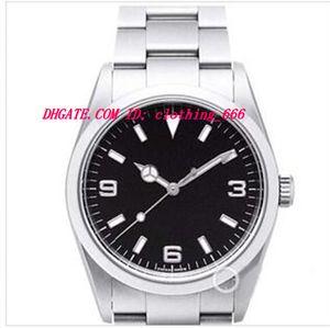 Lüks Saatler Paslanmaz Çelik Bilezik Siyah Dial 114270 İZLE KESTI 40 MM Mekanik Otomatik erkek Izle Kol Saati