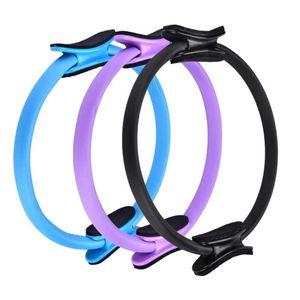 3 Colors Dual Grip Yoga Pilates Ring Magic Wrap Slimming Circle Thighs and Legs Fitness Building Training Yoga Circle