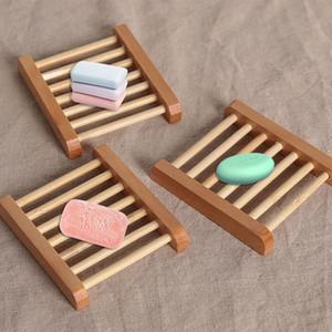 الخشب الطبيعي صحن الصابون حامل صحن تخزين حمام دش لوحة حمام المنزل غسل الصابون حامل التخزين المنظم