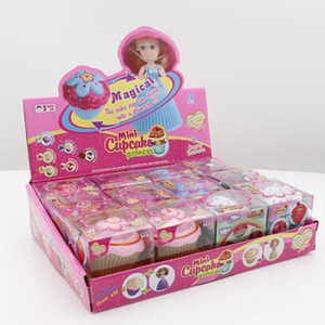 2018 12 Teile / schachtel Mini Magical Cupcake Prinzessin Puppen Duftende Prinzessin Puppe Reversible Kuchen Verwandeln Prinzessin Puppe Mit Kleinkasten
