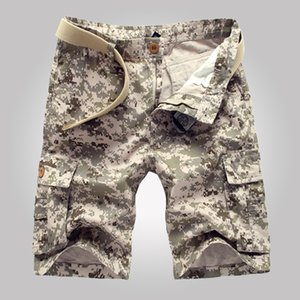 2018 style été nouveaux hommes cargo shorts pantalons décontractés camouflage, shorts militaires jusqu'au genou, bermudas à poches multiples