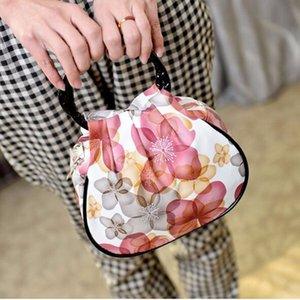 Новые женские сумки Vintage Canvas Lunch Bags Сумка Tote Printing Женщины Повседневная сумка для переноски монет Женская косметика комплект