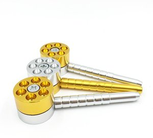 Revólver Revolver creativo Aleación de aluminio pipa para fumar cigarrillos y tubo de metal