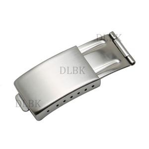 Envío gratis 16 mm x 9 mm hombres mujeres nueva correa de banda de reloj de acero inoxidable de alta calidad broche de despliegue para reloj rolex