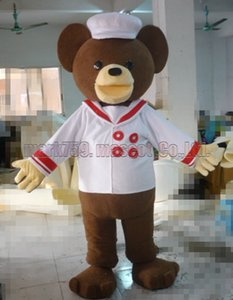 Chef urso mascot costume frete grátis tamanho adulto, mascote urso de marinheiro festa de carnaval de brinquedo de pelúcia comemora vendas de fábrica de mascote.