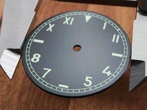 Нержавеющая сталь циферблат циферблат люминесцентные стрелки часы части аксессуары замена p - a-m249/376/424
