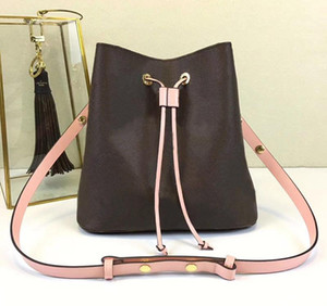 Novos sacos de ombro com saco de balde de couro mulheres marcas famosas bolsas de grife de alta qualidade flor impressão bolsa saco crossbody