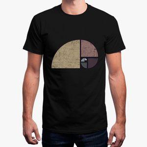 Nueva camiseta para hombre angustiado Fibonacci espiral camiseta básica Solid O cuello Fitness 2018 Homme camiseta hombre