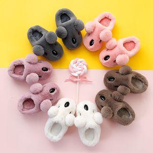 Children's Cotton Slippers Winter Home Warm Cartoon Cute Cotton Children Boys and Girls Baby Cotton Slippers