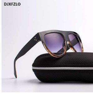 DJXFZLO Gafas Moda Mujer Gafas de sol Diseñador de la marca de Lujo Vintage gafas de sol Gran Marco Completo Gafas Mujeres Gafas